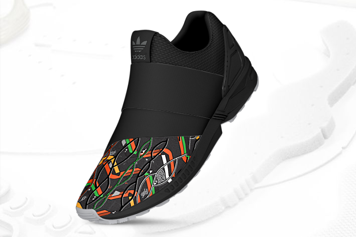 mi adidas ZX Flux Slip On Africa 3