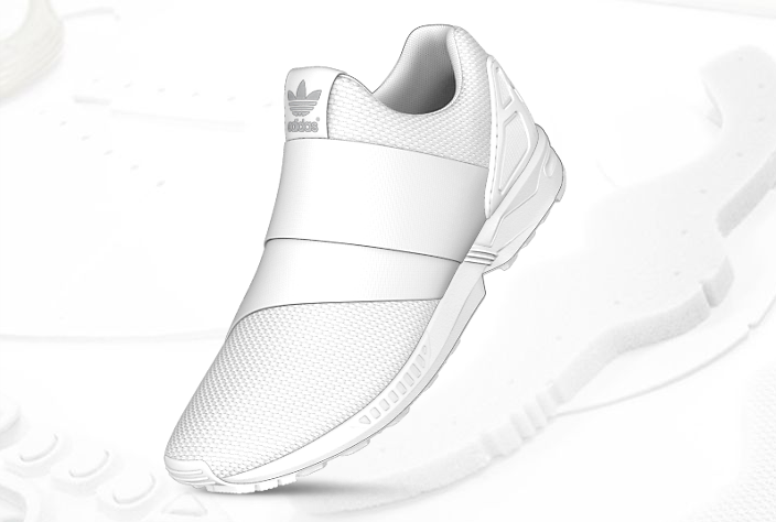mi adidas ZX Flux Slip On white