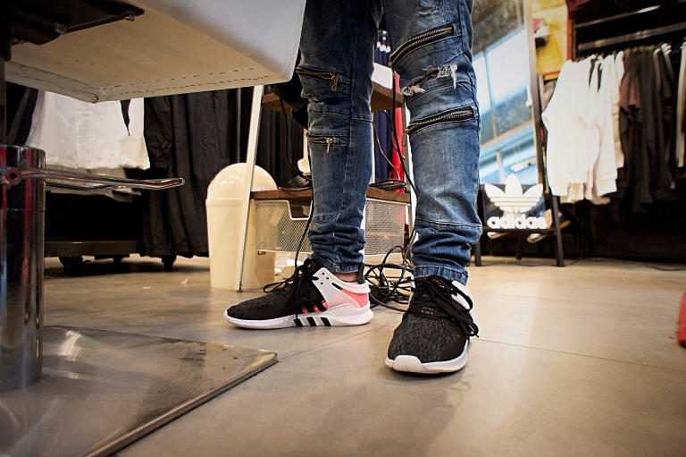 Barber, Danny Ishac, was ready with his pair on feet at Foot Locker on 247 Yonge Street