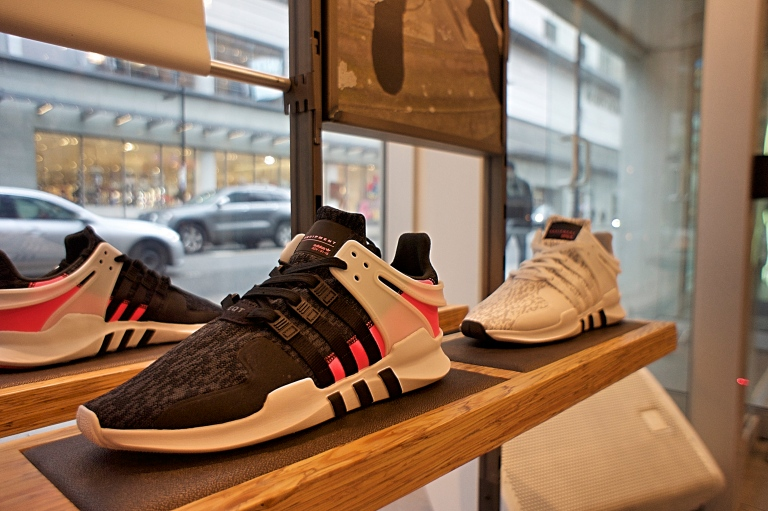 The EQT display at Foot Locker on 247 Yonge Street