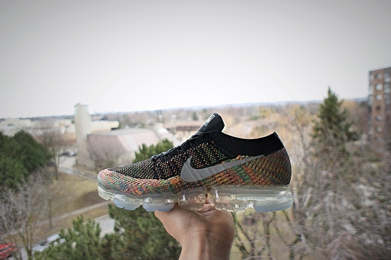 785a48537cd Multicolour Flyknit Upper with Reflective Swoosh