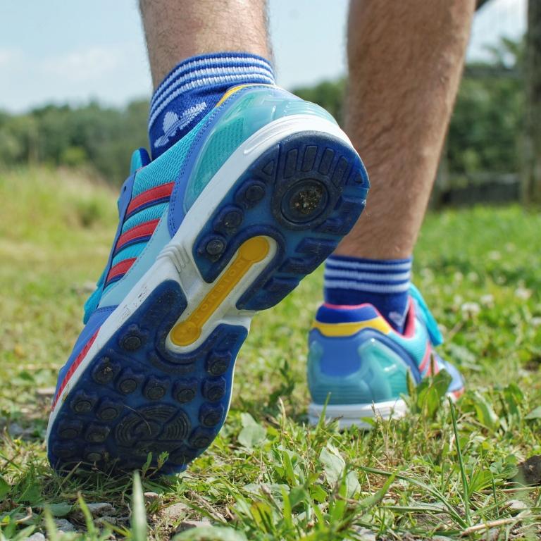 zx9000 heel, on feet